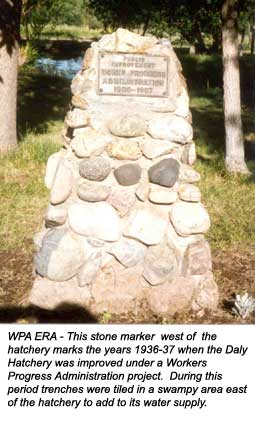 WPA ERA - This stone marker  west of  the